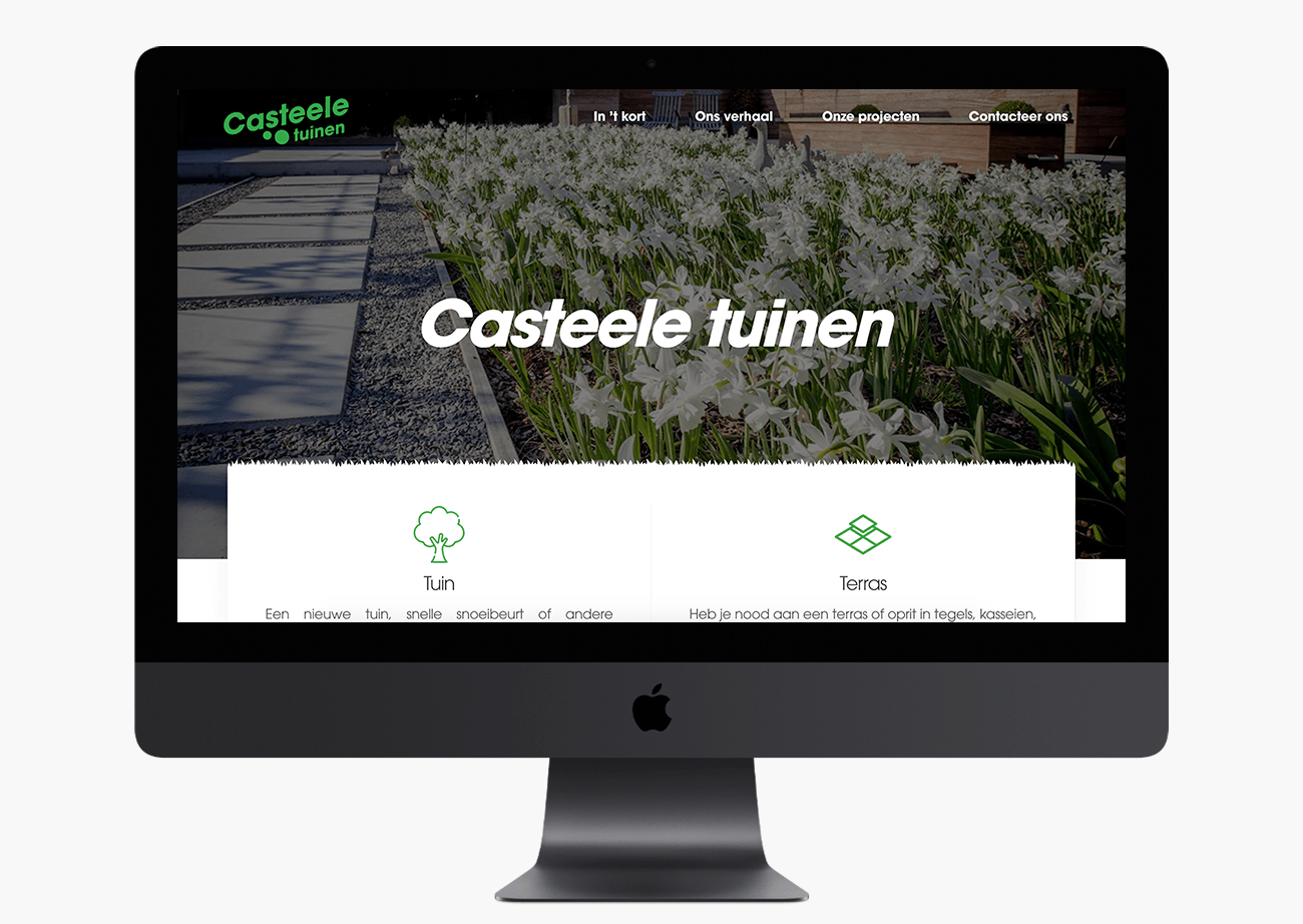 Eagl - Website en Visuele stijl Casteele tuinen
